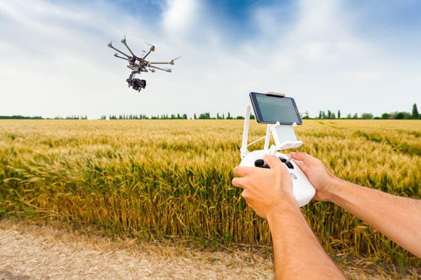 Применение дрона