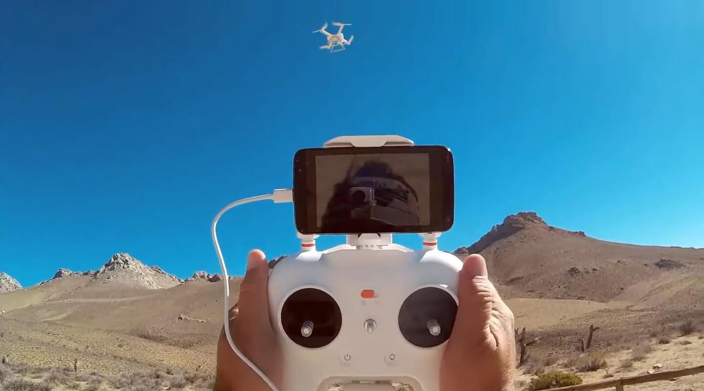 Запуск дрона