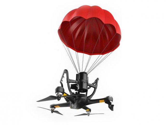 Квадрокоптер с парашютом