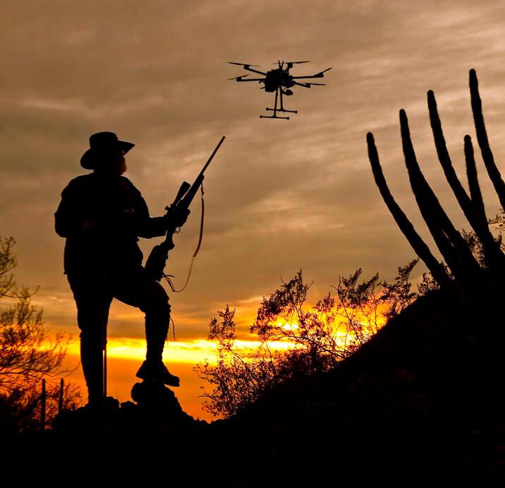 Беспилотник на охоте