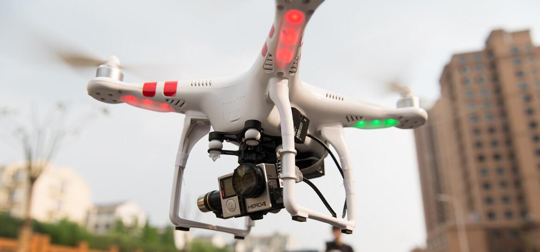 Экшн-камера на дроне