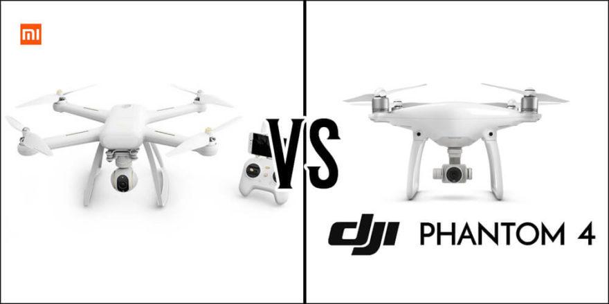 Xiaomi Mi Drone 4K и DJI Phantom 4